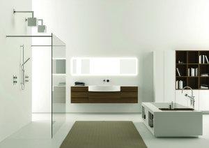 Frameless glass walk-in shower