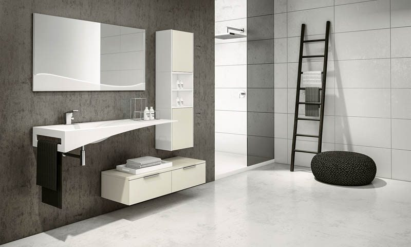Modern bathroom vanities fly european cabinets for Arredamento minimale