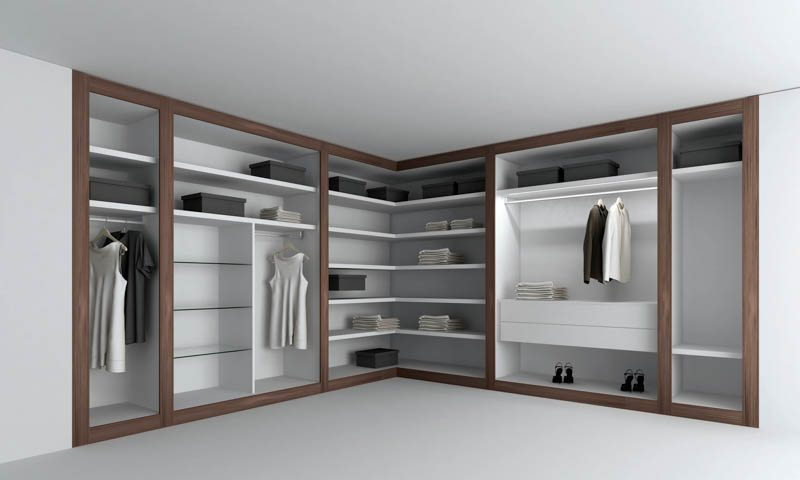 Walk in closets by pianca european cabinets design studios for Studio closet design