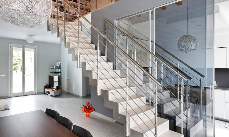 Custom staircase design european cabinets design studios for Custom staircase design