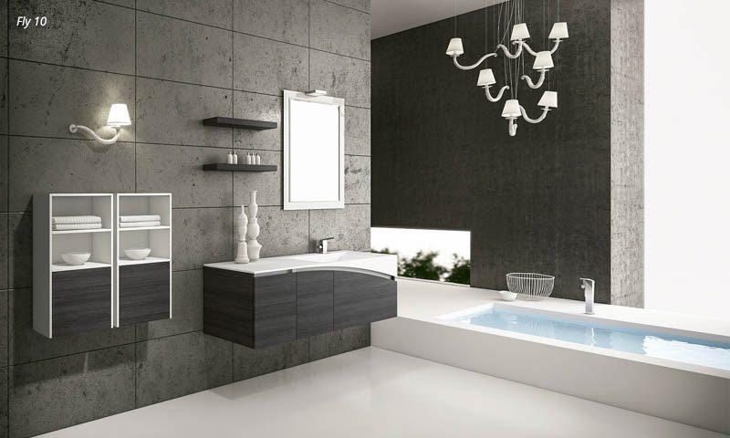 Modern bathroom vanities fly european cabinets design studios - Rifacimento bagno padova ...