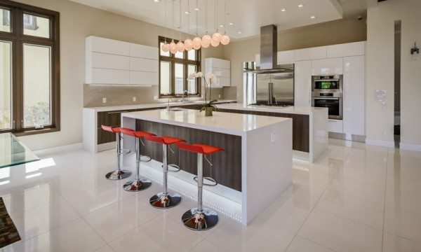 Top kitchen color trends for 2015 include white kitchen natural saturated accents