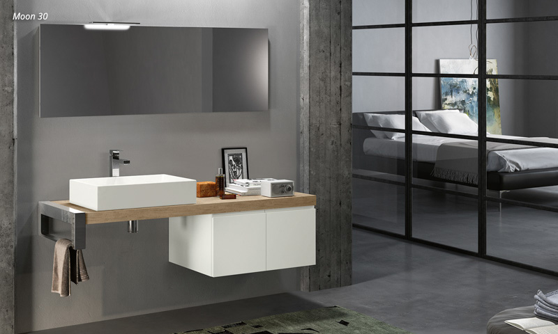 Floating Bathroom Vanity U2013 Moon | European Cabinets U0026amp; Design .