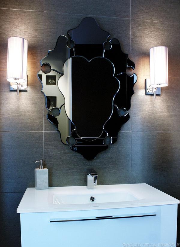 Powder room vanity by BMT. Photo: Morgan Riccilli Slade.