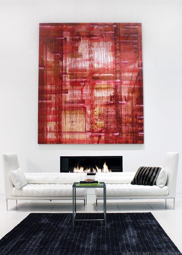 """Thirty-sixth street"" by Lea Feinstein. Acrylic on Tyvek 120"" x 90."" Photo: Morgan Riccilli Slade."