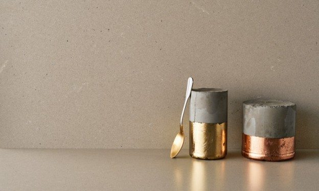 Fall design trends raw concrete countertop color from Caesarstone classico collection