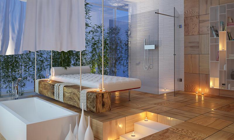MOMA Design spa-like bathroom design trends