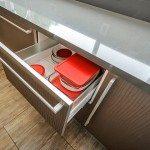 San Francisco modern kitchen remodeling brown cabinets