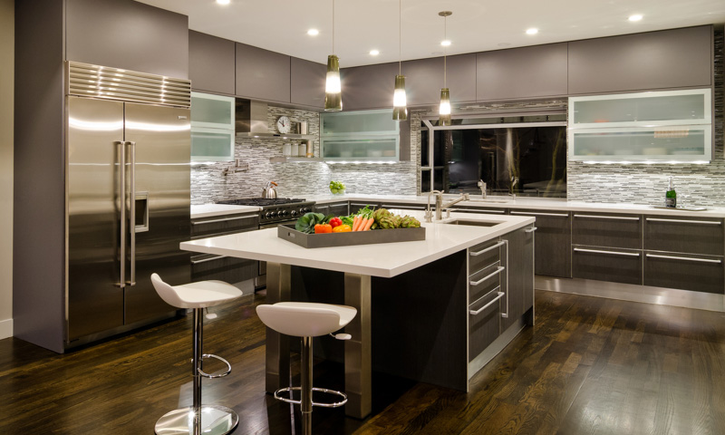 Kitchen cabinets offer a streamlined look and max storage - Modern look kitchen cabinets pictures for maximum effect ...