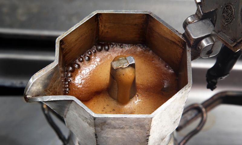 Stovetop Italian espresso maker