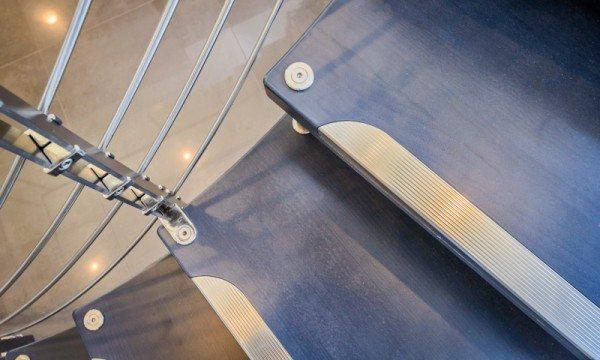 custom curved staircase CAST Tekna Jazz