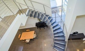 Open curved custom staircase