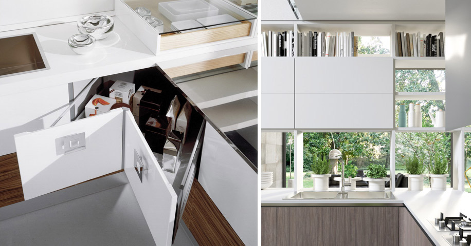 contemporary european kitchens storage solutions