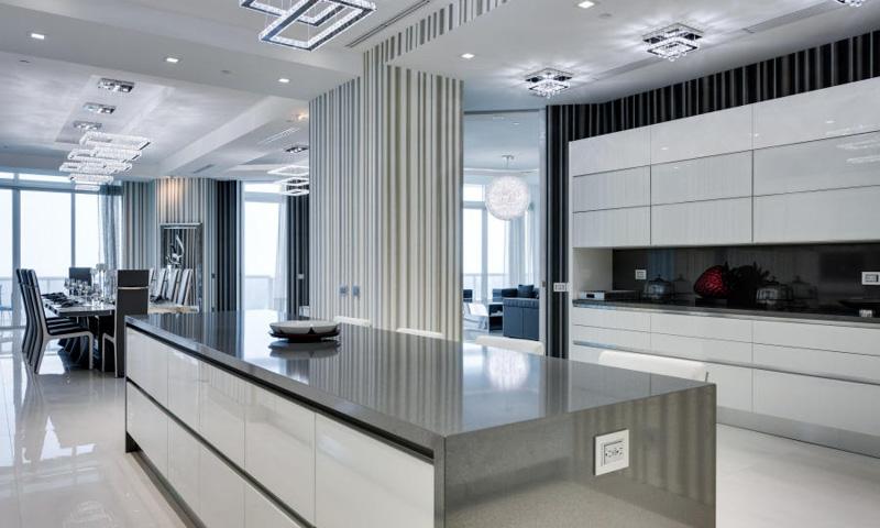 Miami modern kitchen cabinets Aran Cucine Volare