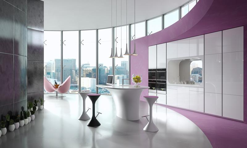 Modern Italian Kitchen designed by Karim Rashid for Rastelli