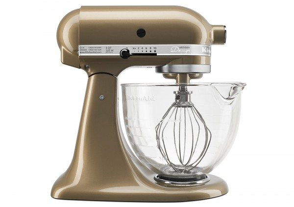 kitchenaid artisan design series stand mixer   champagne gold champagne gold high end luxury appliances 10 small appliances  great design for your kitchen   european cabinets  rh   europeancabinets com