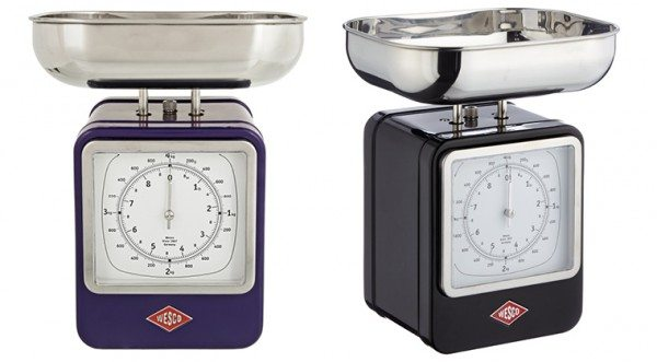 Wesco retro scale and clock