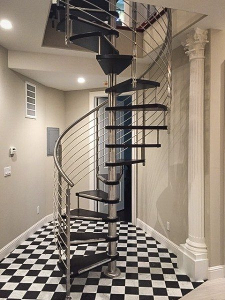 How to install a spiral staircase european cabinets design for European staircase design