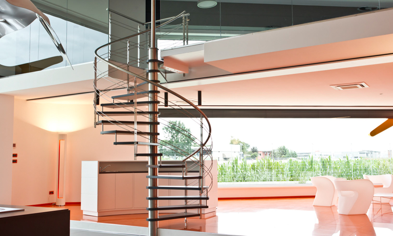 A beautiful custom-design spiral staircase can be installed in your home in a matter of a few hours.