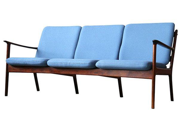 Danish Modern Jeppesen Brazilian Rosewood Sofa from Ole Wanscher.