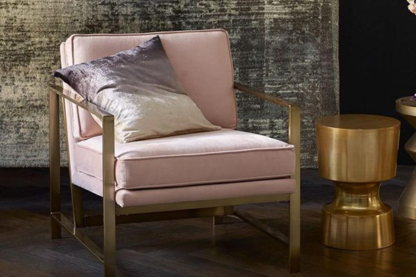 Metal Frame Upholstered Chair from West Elm.