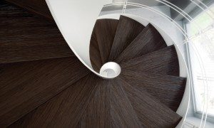 Wave Modern Spiral Staircase Cast Stairs