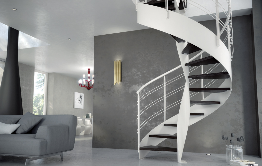 Wave modern staircase by CAST Stairs