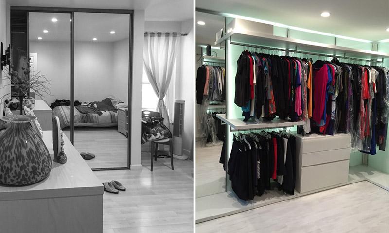 how to transform a spare room into a custom closet