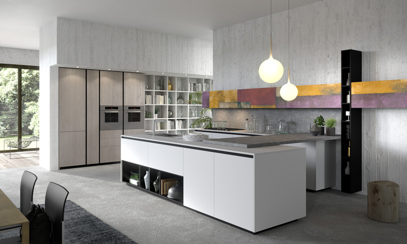 Modern kitchen cabinets lab13 european cabinets - Aran cucine lab 13 ...