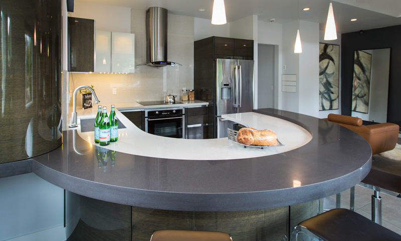 Custom countertops design and installation