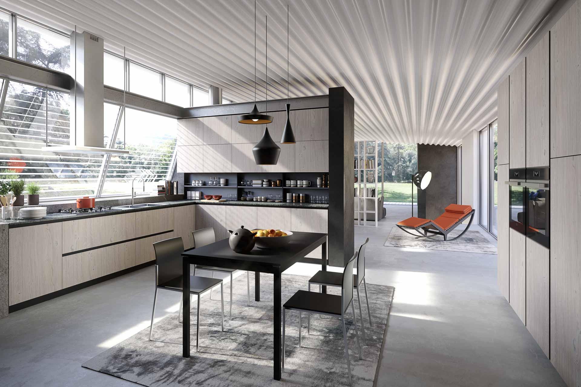 european modern kitchen