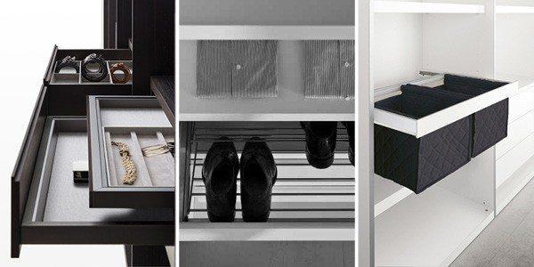 custom walk-in closet storage solutions