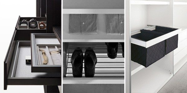custom walk-in closet storage solutions