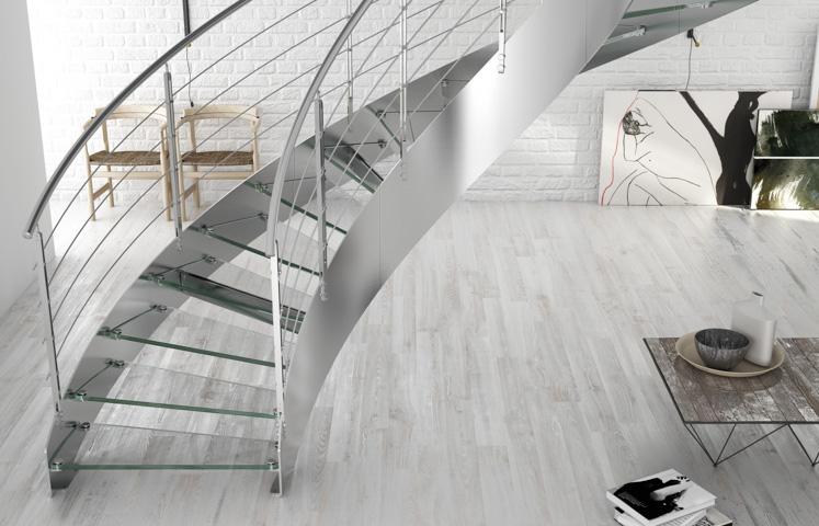 Glass stairs european cabinets design studios for European staircase design