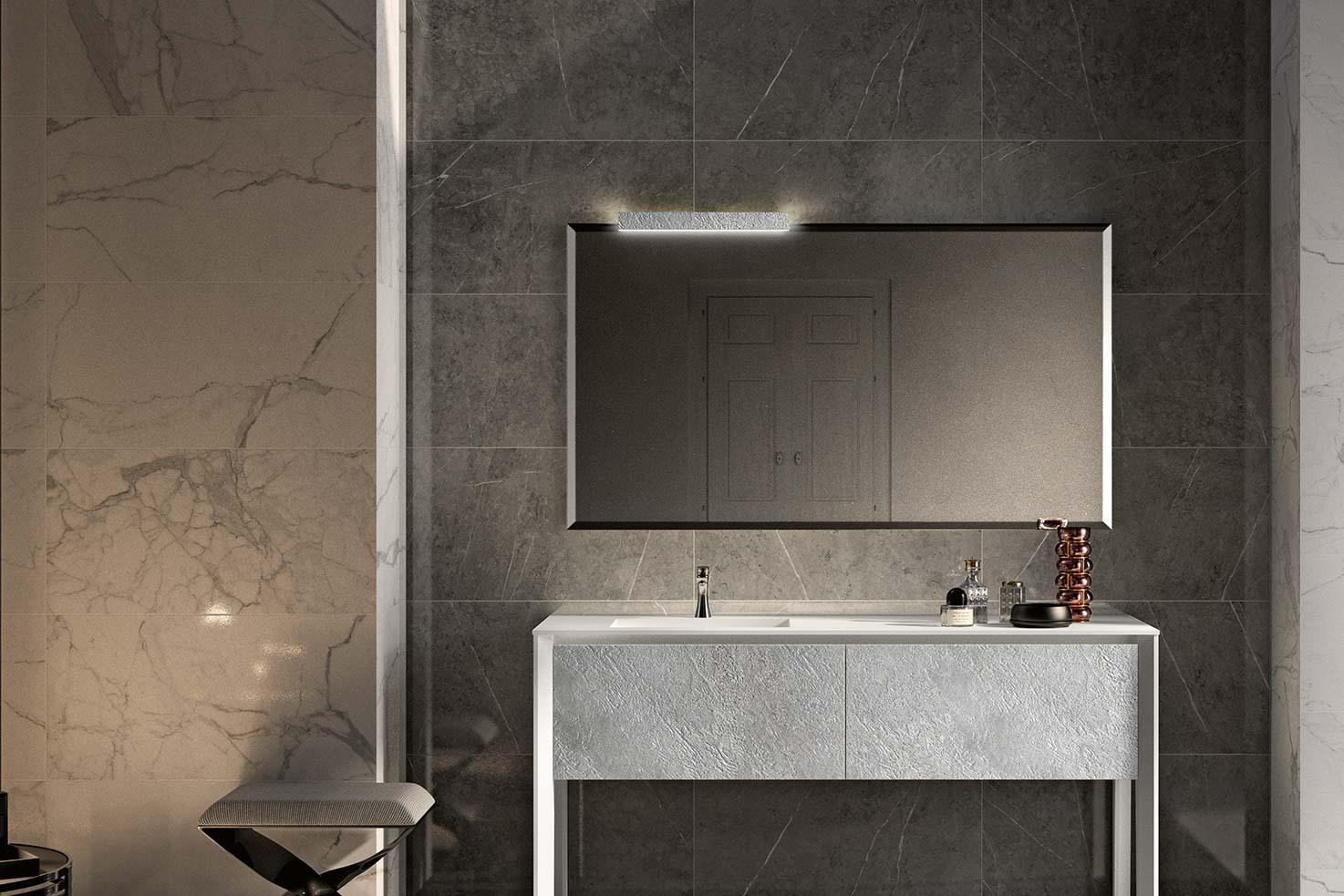 Modern Bathroom Mirrors Lamps European Cabinets Design