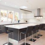 custom kitchen design white gray