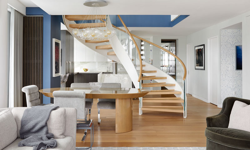 CAST curved staircase NYC Cortina & Kall