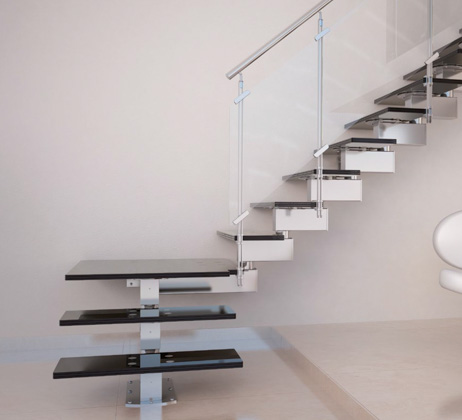 Glass Stairs European Cabinets Amp Design Studios