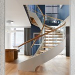 NYC custom curved staircase new york city