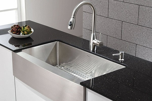 kraus farmhouse sink 600