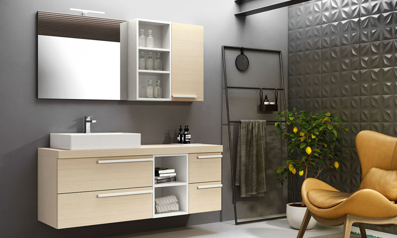 modern bathroom mirrors and lamps