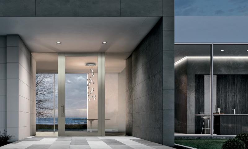 oikos nova modern glass front door