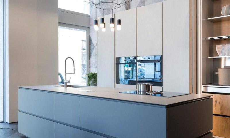 Fenix NTM nanotech kitchen countertop cabinets