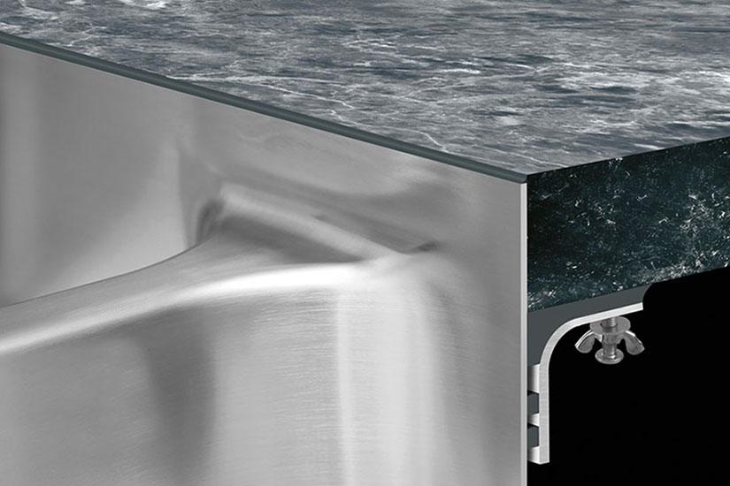 Lipless, rimless, seamless TopZero sink