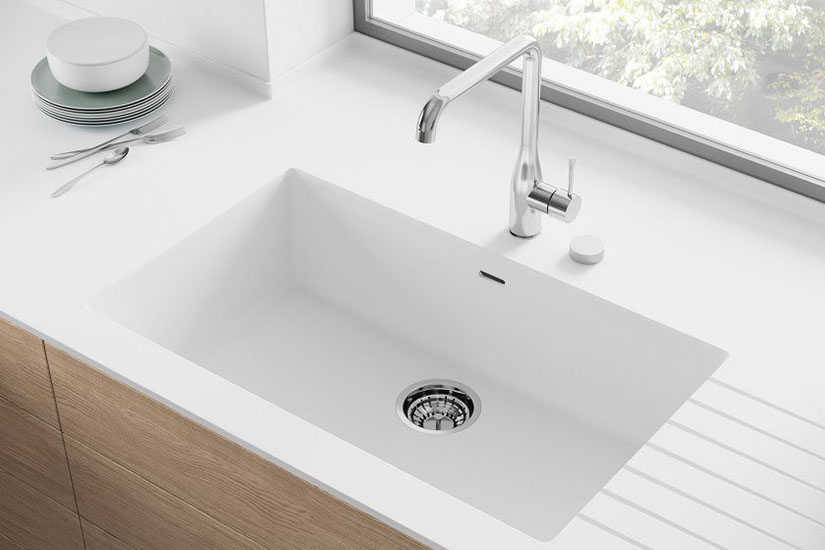 Corian by DuPont white integrated sink