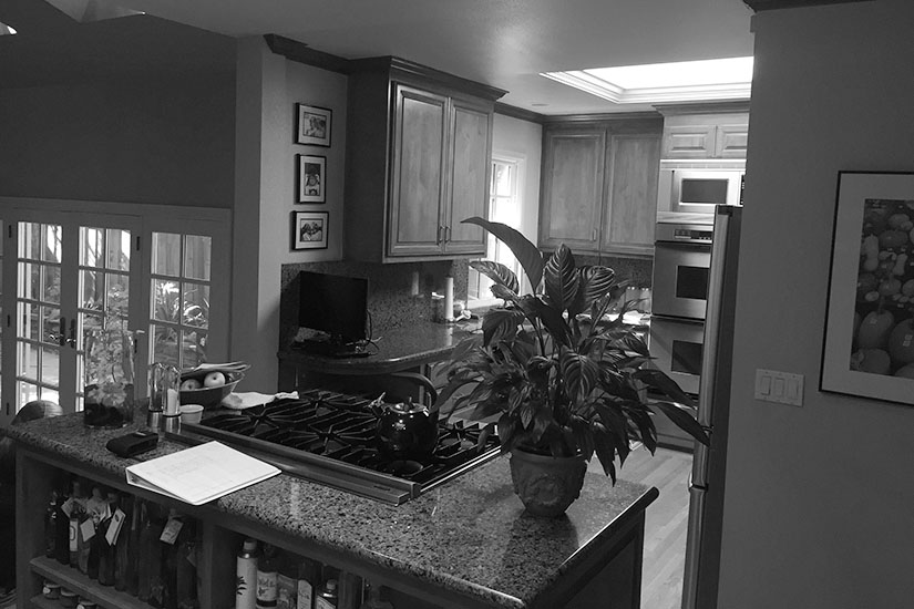 Before picture of a kitchen that needs to be renovated