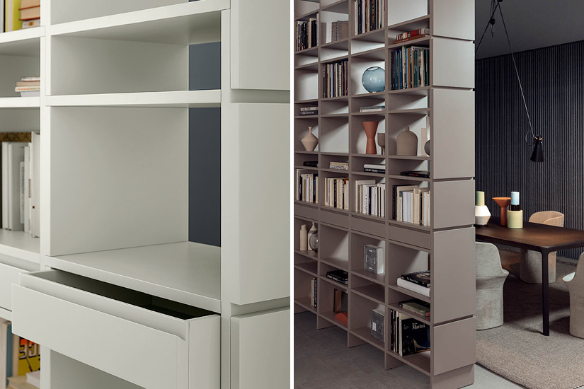 Freestanding bookcases are great for designing a home office.